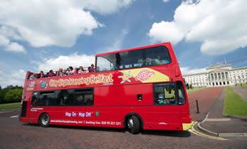 Belfast City Sightseeing Bus at Stormont