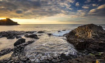 Giants Causeway Sunset